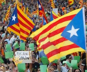 Manifestación por la independencia de Cataluña.