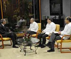 Raúl Castro se reúne con exmandatarios latinoamaricanos