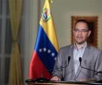 El ministro de Comunicación e Información de Venezuela, Ernesto Villegas. Foto: Prensa Miraflores.