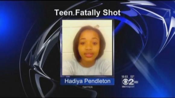 Hadiya Pendleton, de 15 años.