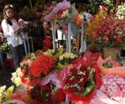 Un mercado en Phnom Penh, Camboya listo para los clientes en el día de San Valentín Foto:Mak Remissa / EFE