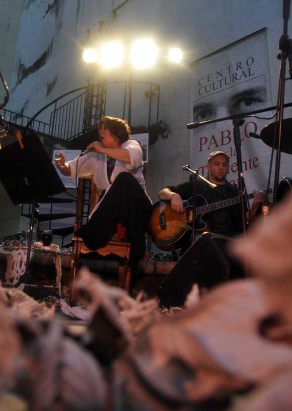 Concierto de Liliana Herrero en el Centro Pablo. La Habana, Cuba. Foto: Kaloian Santos Cabrera.