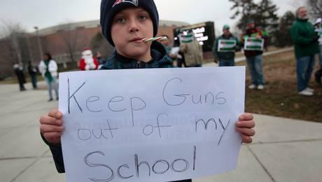 """""""Mantén las armas fuera de mi escuela""""."""