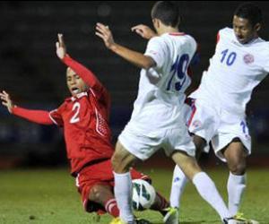 Acciones del duelo entre las selecciones Sub20 de Cuba y Costa Rica.Foto: Agencia