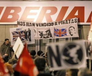 Continúa segunda semana de huelga general de los trabajadores de Iberia