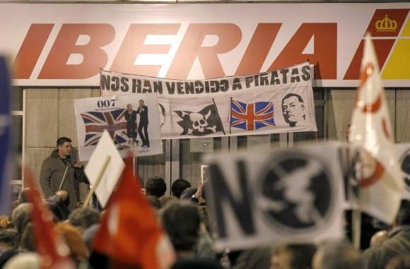 Protestas de trabajadores de Iberia