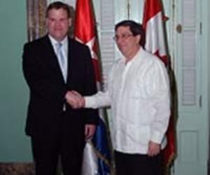 Los Excelentísimos Señores John Russell Baird y Bruno Rodríguez Parrilla  Ministros de Relaciones Exteriores de Canadá y Cuba