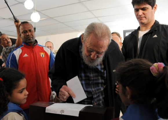 Fidel Castro Cast his Vote at Cuban General Elections