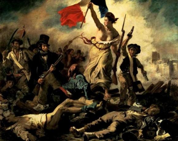 """""""La liberté guidant le peuple"""". Eugène Delacroix."""