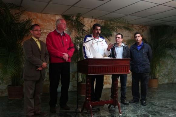 maduro y otros dirigentes venezolanos
