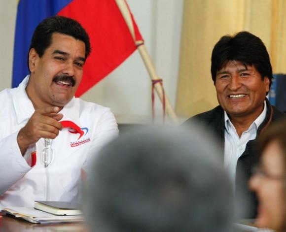 Maduro y Evo Morales