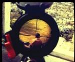 Niño palestina en la mira