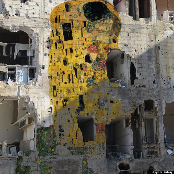 El beso, de Klimt, por Tammam Azzam