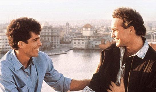 Fotograma del filme Fresa y chocolate (1993), dirigido por Tomás Gutiérrez Alea y Juan Carlos Tabío.
