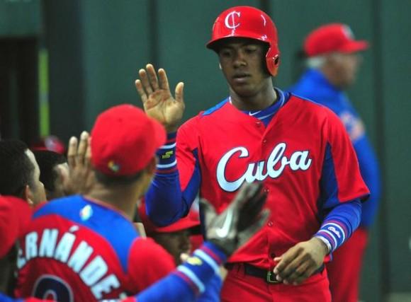 Erisbel Arruebarruena se destacó conel medaro y tambiéncon el guante en la victoria de Cuba sobre Brasil AIN FOTO/Ricardo López Hevia/DIARIO GRANMA