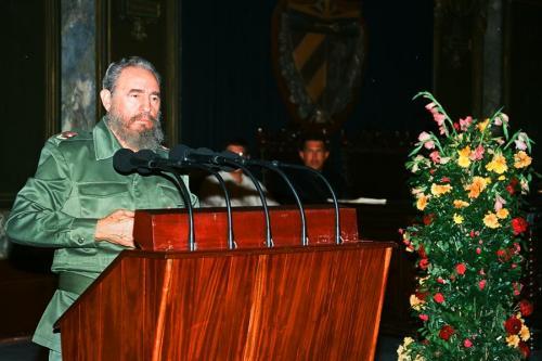 Discurso de Fidel en el Aula Magna de la Universidad de La Habana  en el homenaje a Chávez. 14 de diciembre de 1994