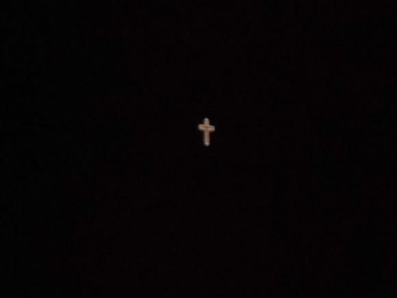 Cruz del monte Ávila en la noche