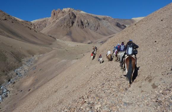 Llegando a Las Frías. Foto: Guadalupe Carril.
