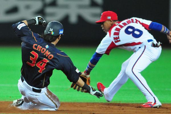 El equipo de Cuba  ganó a la selección de Japón,  6-3,  en el III Clásico Mundial de Béisbol  en la ciudad de Fukuoka, en Japón, el 6 de marzo de 2013. AIN FOTO POOL/Ricardo López Hevia/Periódico Granma/