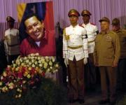 Ministro de las FAR y Viceminstro de las FAR rinden homenaje a Chávez