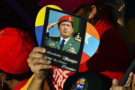 Chávez en el homenaje de su pueblo.