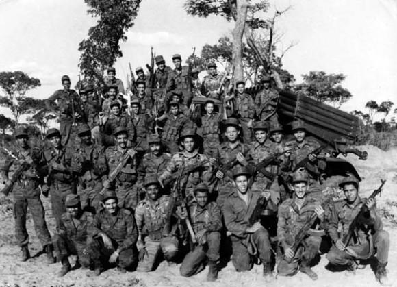 Combatientes cubanos en Cuito Cuanavale, Angola, marzo de 1988. Archivo de Cubadebate
