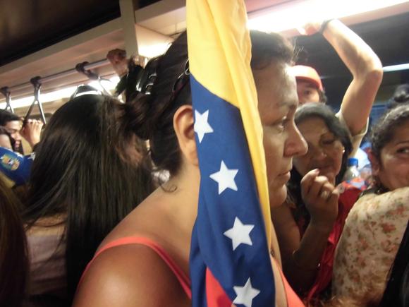 Homenaje a Chávez en Caracas. Foto: Maribel Acosta