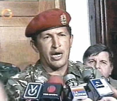 Hugo Chávez en 1992.
