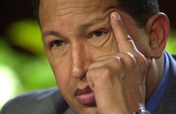 Hugo Chávez durante una conferencia en Miraflores, el 14 de mayo de 2004.  Foto: AP