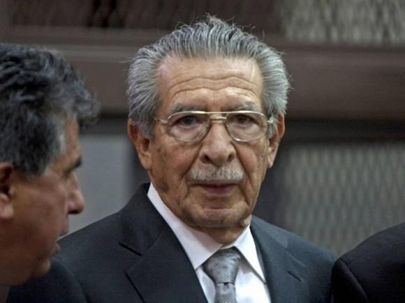 Ex dictador guatemalteco Efraín Ríos Montt, durante el juicio que fue anulado.
