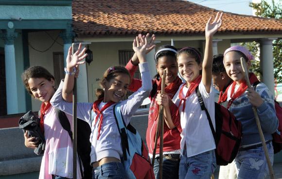 Pioneros exploradores. Foto: Ladyrene Pérez/Cubadebate.