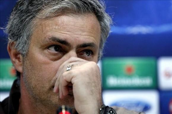 El entrenador del Real Madrid, el portugués José Mourinho, durante la rueda de prensa que ofreció hoy.