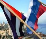 Banderas de Cuba y Rusia