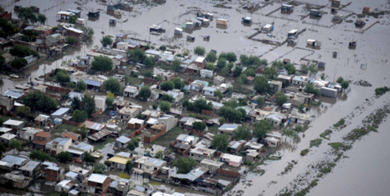 Grandes lluvias en Argentina