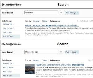The New York Times, as versões para as violações em casa ou no exterior.