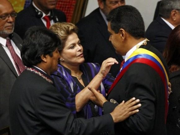 Maduro, Dilma, Evo