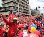 Nicolas Maduro durante un mitin