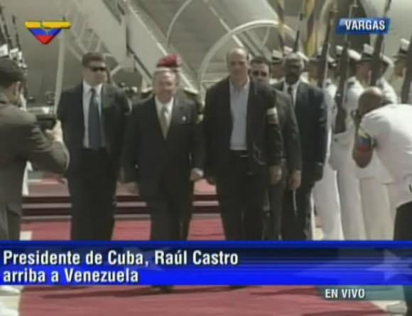 Raúl llega a venezuela 19 de abril de 2013