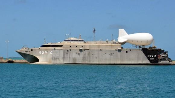 El Aerostar TIF-25K puede alcanzar una altura de 600 metros siendo lanzado desde embarcaciones como la HSV-2 Swift.