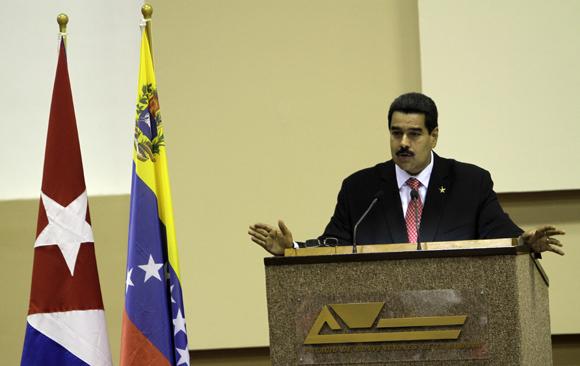 Intervención de  Nicolás Maduro, presidente de Venezuela en la calusura de la Comisión Intergubernamental Cuba-Venezuela. Foto: Ismael Francisco/Cubadebate.