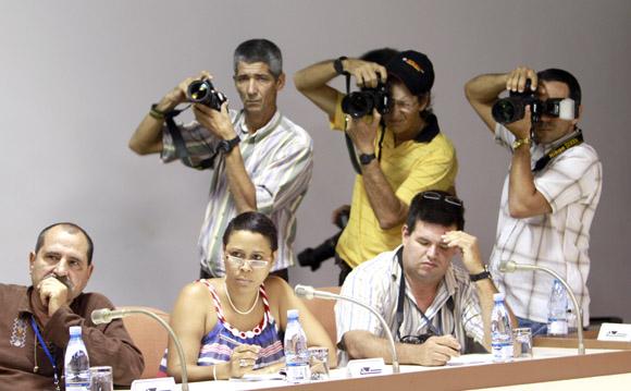 Rueda de prensa. de REui Falcao, presidente del PT. Foto: Ismael Francisco/Cubadebate.