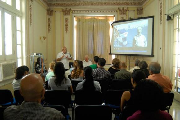 Presentación de multimedia inspirada en Martí. Foto: Roberto Morejón.