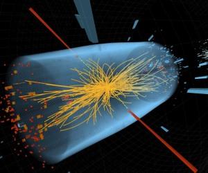 """El Bosón de Higgs, la """"Partícula de Dios"""", graficada hipotéticamente en computadora"""