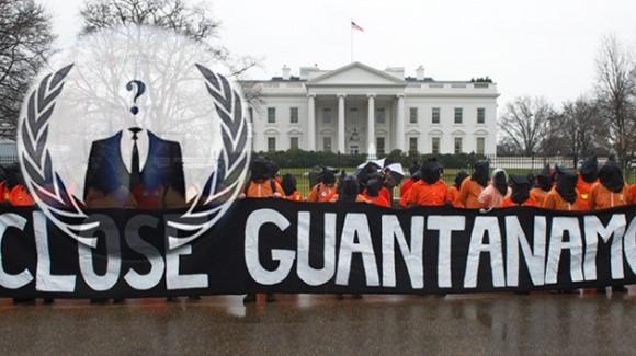 Anonymus se suma el reclamo internacional por el cierre de la prisión de Guantánamo