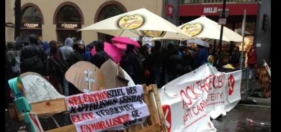 protestas ante el banco central europeo