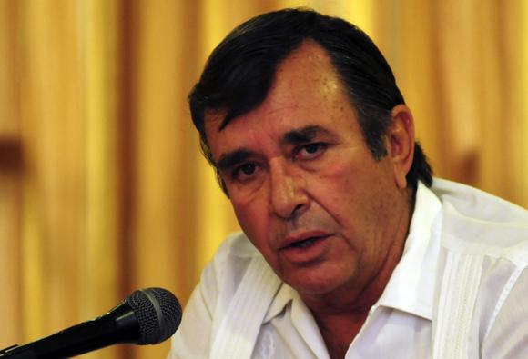 Alberto Puig de la Barca durante la rueda de prensa. Foto: Ismael Francisco/Cubadebate.