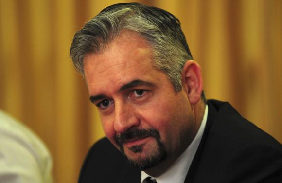 Karim Bouzidi durante la rueda de Prensa en el Hotel Meliá Habana. Foto: Ismael Francisco/Cubadebate.
