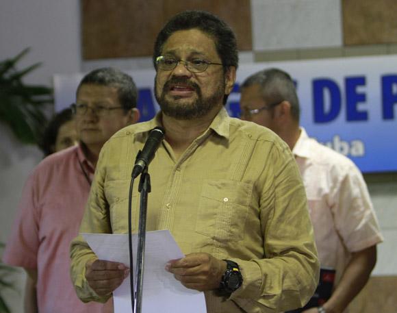 Comandante Iván Márquez, jefe del equipo negociador de las FARC-EP y el Gobierno de Colombia. Foto: Ismael Francisco/Cubadebate.