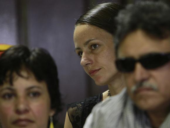 Tanja Nijmeijer, representante de FARC-EP en el Palacio de Convenciones. Foto: Ismael Francisco/Cubadebate.