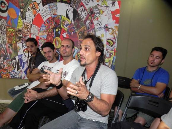 Los jóvenes lograron interactuar con los especialistas del panel de Música Electrónica en Cuba, en el espacio del Salón de Mayo.